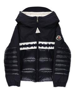 Enfant Logo Stripe Panelled Hooded Jacket