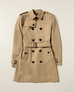 trench coat in cotton gabardine