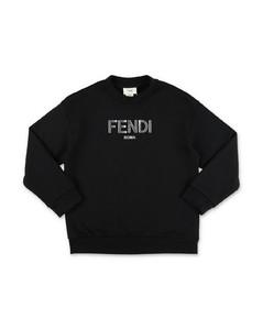 sweatshirt in cotton blend with logo