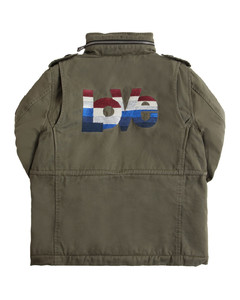 Lurex Hooded Cotton Parka Coat