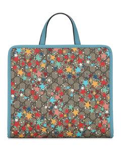 Gg Supreme Stars Faux Leather Tote Bag