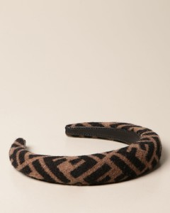 rounded headband with all-over FF logo