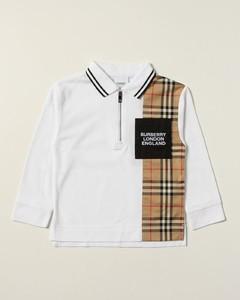 cotton piquépolo shirt with check panel