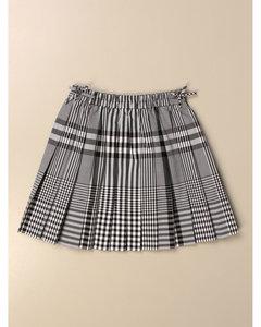 check cotton skirt