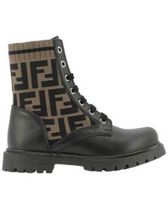 FF Motif Combat Boots