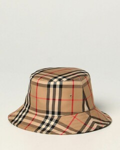 fisherman hat in vintage check twill