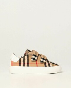 sneakers in check canvas