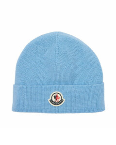 Logo Wool Blend Beanie Hat