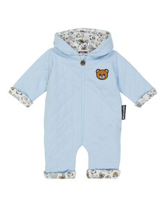Baby quilted teddy bear romper