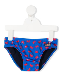 J340 sneakers in leather and fabric