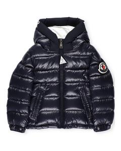 Enfant Logo Patch Hooded Down Jacket