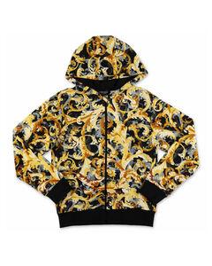 Kids Baroque Printed Hooded Jacket