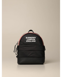 backpack in sustainable eco-nylon with a striped pattern