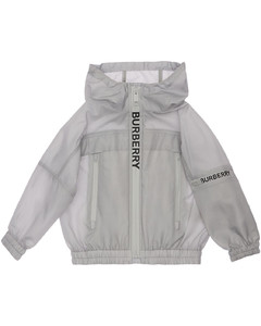 Hooded Nylon Zip-up Jacket