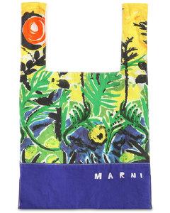 Printed Cotton Gabardine Bag