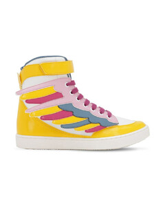 Wings Faux Leather High Top Sneakers