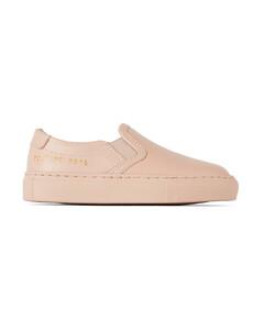 粉色儿童无带运动鞋