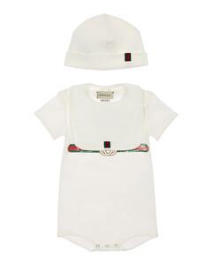 Cotton Bodysuit, Hat & Bib