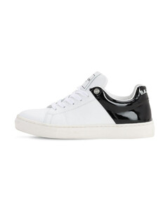 Logo Lace-up Leather Sneakers