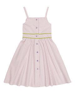 Cleo格纹棉质连衣裙