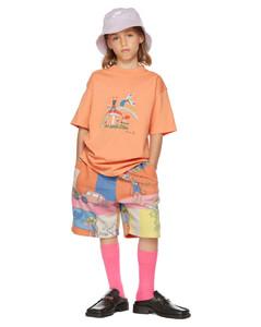 SSENSE发售橙色Brittle儿童T恤