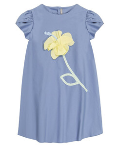 刺绣弹力棉质连衣裙