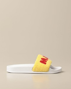 sandal in rubber and fabric with logo