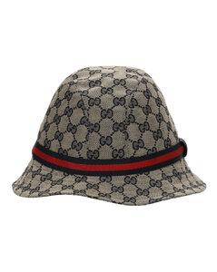 Gg Supreme Logo Blend Cotton Bucket Hat