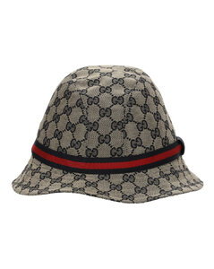 Gg Supreme Logo Blend Cotton Bucket Hat
