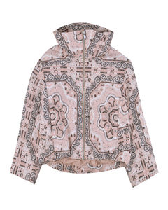 Logo-print high-top fabric and leather trainers 7-10 years