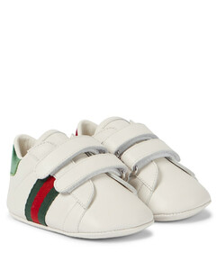 Baby Web leather sneakers