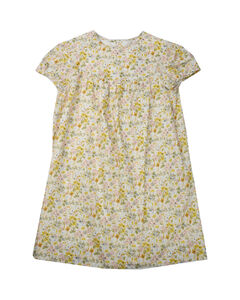 Young striped cotton dress with logo