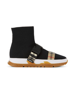Buckled Strap Union儿童高帮袜式运动鞋