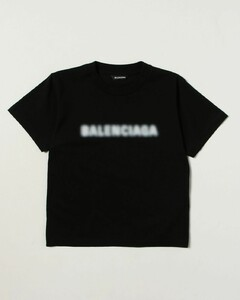 cotton t-shirt with blurred logo