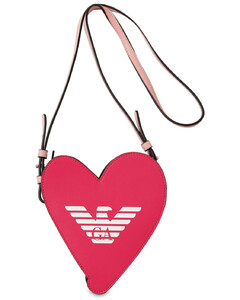 Heart Faux Leather Shoulder Bag