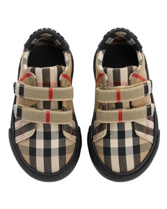 Classic Check Canvas Strap Sneakers