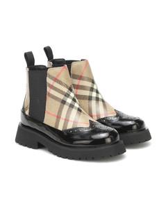 Vintage Check Chelsea boots