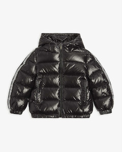 Logo-print quilted nylon jacket 4-14 years