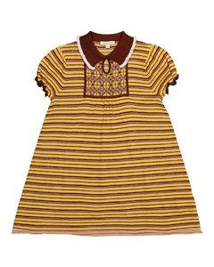 Narwhale striped merino wool dress