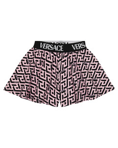 Logodec faux fur-trimmed down jacket