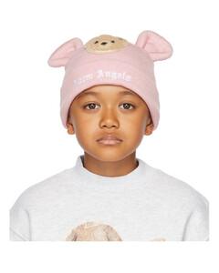 粉色Bear儿童毛线帽