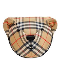 Checked Bear Shoulder Bag