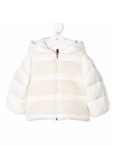 shearling padded coat