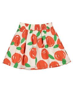 小柑橘印花棉质半身裙