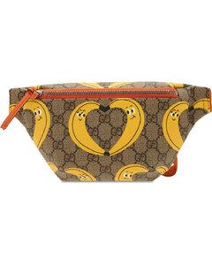 Banana Print Faux Leather Belt Bag