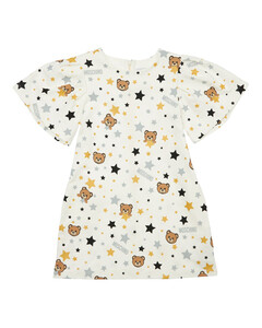 cotton dress with cherry print