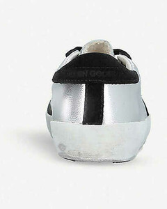 Superstar P2 metallic-leather trainers 6-9 years