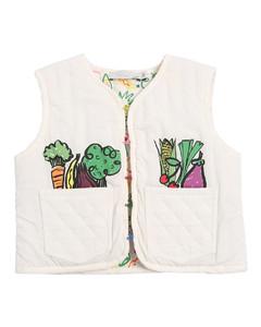 Fruit & Vegetable Print Padded Vest