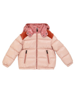 Chouelle velvet-trimmed down jacket