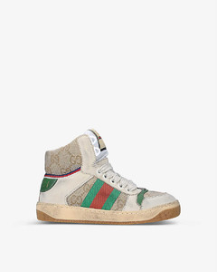 Screener leather high-top trainers 6-12 years
